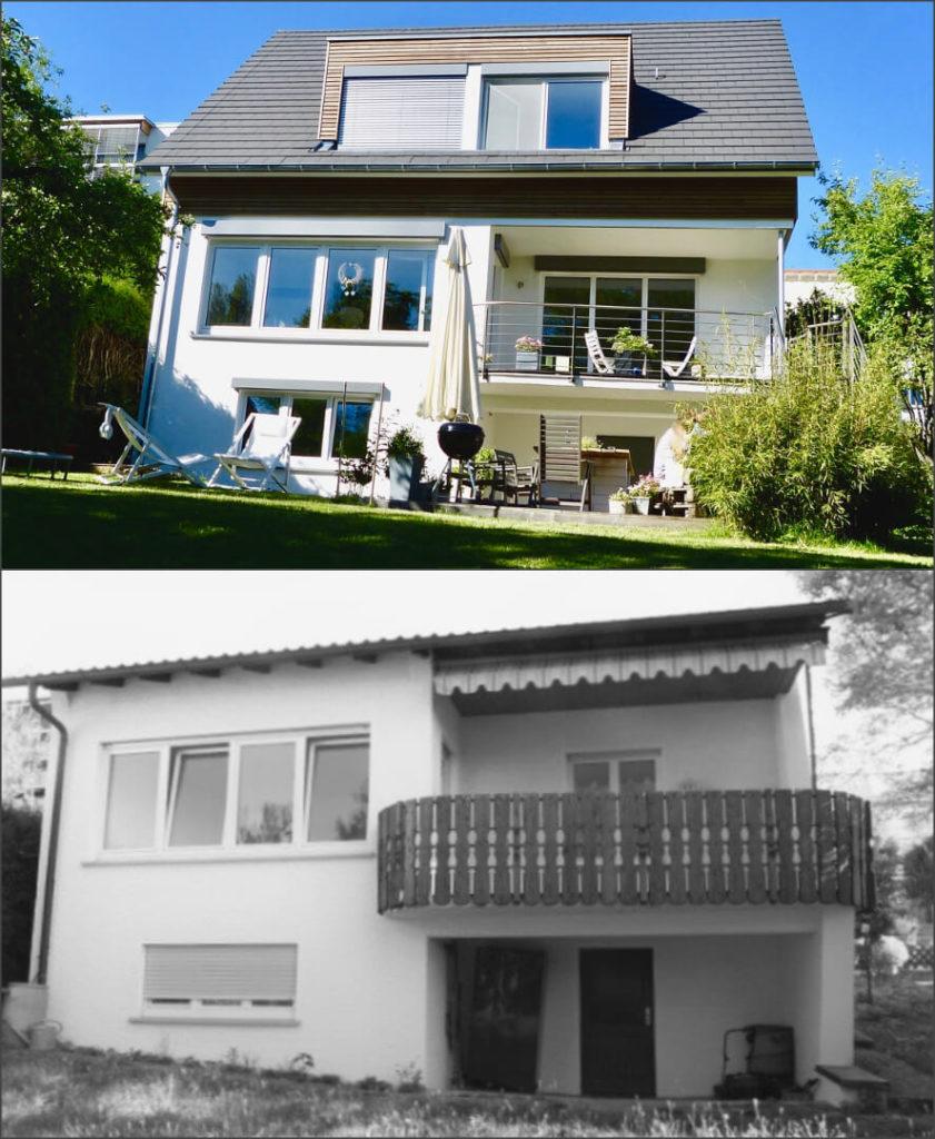 Umbau und Aufstockung eines Einfamilienhauses in Herrenberg 2
